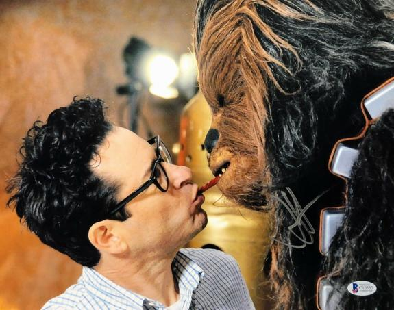 J.J. Abrams Signed 11x14 Star Wars Photo *Chewbacca BAS Beckett C10532
