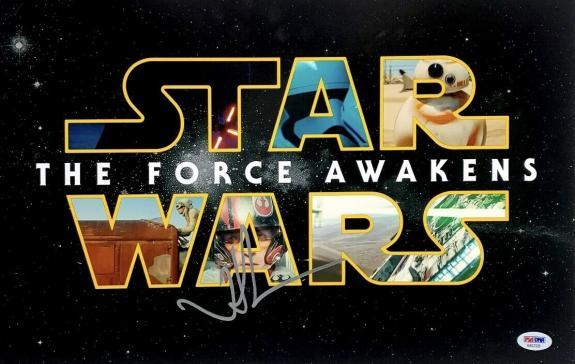 JJ Abrams Signed 11x17 Photo Star Wars The Force Awakens PSA AA62329
