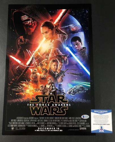 Jj Abrams Signed Auto Star Wars The Force Awakens 12x18 Photo Bas Beckett Coa 1