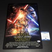 Jj Abrams Signed Auto Star Wars The Force Awakens 12x18 Photo Bas Beckett Coa 13