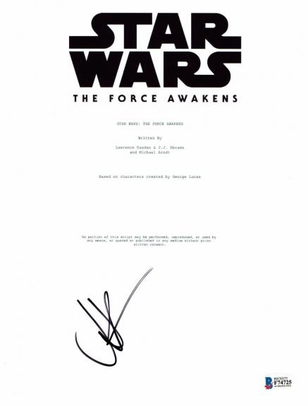 J.j. Abrams Signed Auto Star Wars: The Force Awakens Full Script Beckett Bas Coa