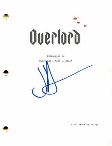 Jj Abrams Signed Autograph - Overlord Full Movie Script - Lost, Star Wars