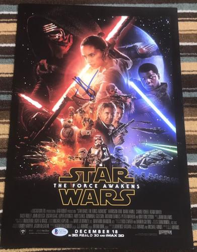 J.J. ABRAMS SIGNED AUTOGRAPH STAR WARS EPISODE 7 FORCE AWAKENS 12x18 POSTER BAS