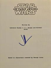 "Jj Abrams Signed Autograph ""star Wars Force Awakens"" Full Complete Movie Script"