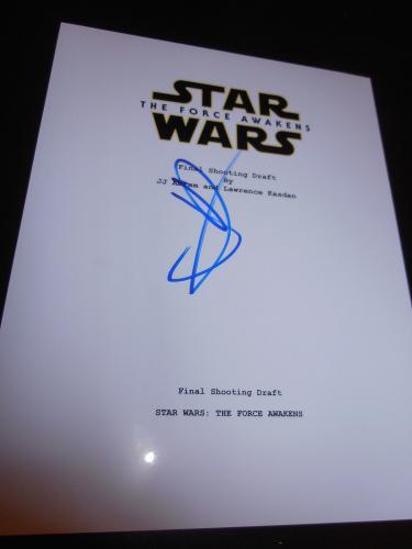 Jj Abrams Signed Autograph Star Wars Force Awakens Script In Person Coa Auto D