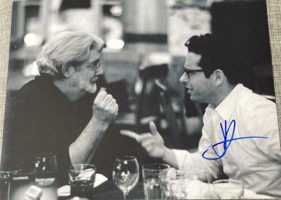 Jj Abrams - Signed Autographed 11x14 Photo - Rare Meeting George Lucas Coa J.j.