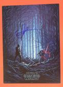 JJ Abrams Signed Autographed Star Wars 9.5x13 Movie Poster The Force Awakens AMC