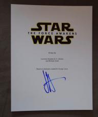 JJ ABRAMS Signed Autographed Star Wars The Force Awakens Full Movie Script J.J.