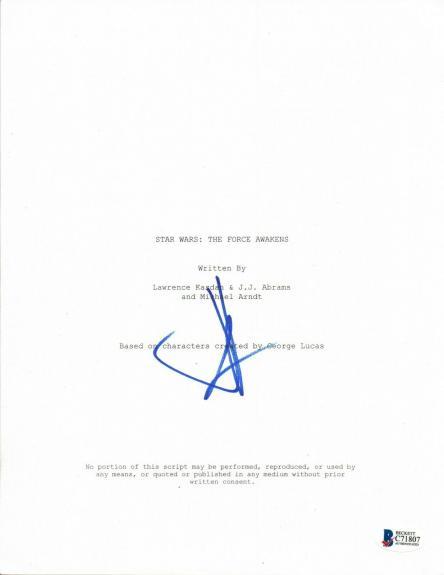 JJ Abrams Signed Autographed Star Wars The Force Awakens Movie Script BAS COA