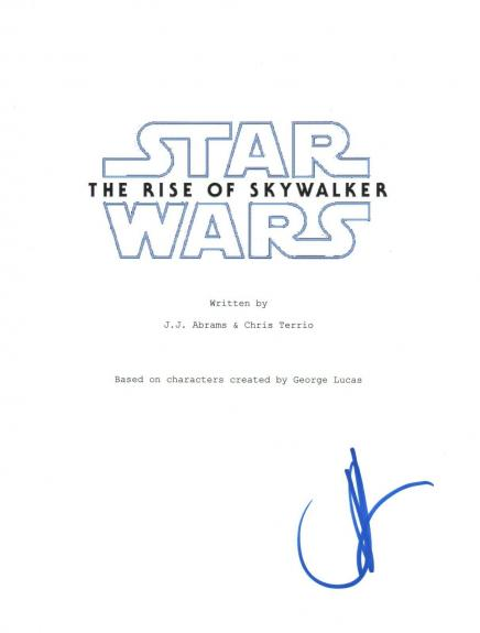 JJ Abrams Signed Autographed Star Wars THE RISE OF SKYWALKER Script Cover COA
