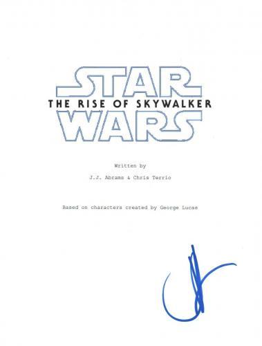 JJ Abrams Signed Autographed Star Wars THE RISE OF SKYWALKER Script Cover COA