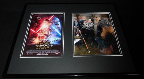 JJ Abrams Signed Framed 16x20 Photo Poster Set JSA Star Wars Force Awakens
