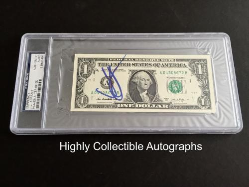 Jj Abrams Signed One Dollar Bill Psa Dna Encapsulated Currency Autograph