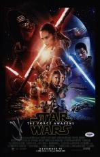 Jj Abrams Signed Star Wars The Force Awakens 11x17 Movie Poster Psa Coa Ad48067