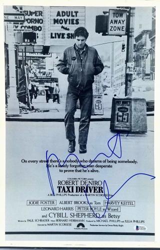 "ROBERT DENIRO Signed Autographed ""TAXI DRIVER"" 12x18 Photo BECKETT BAS #C43585"