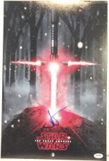 """JJ ABRAMS Signed STAR WARS """"The Force Awakens"""" 12x18 Photo  PSA/DNA #AA339"""