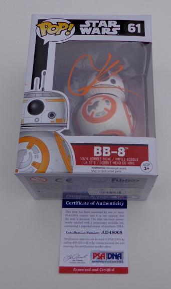 J.j. Abrams Signed Star Wars The Force Awakens Bb-8 Funko Pop! Psa Coa Ad48008