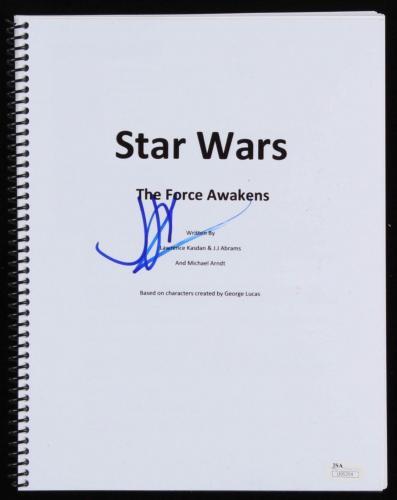 JJ Abrams Signed Star Wars The Force Awakens Full Movie Script JSA U95354