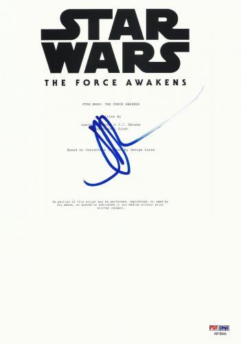 Jj Abrams Signed Star Wars The Force Awakens Full Script Screenplay Auto Psa Dna