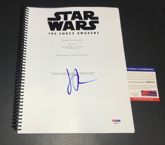 Jj Abrams Signed 'star Wars The Force Awakens' Full Script Screenplay Psa Dna