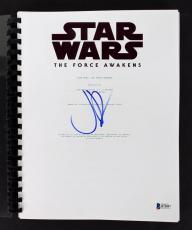 J.J. Abrams Signed Star Wars The Force Awakens Movie Script BAS #B73897
