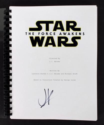J.J. Abrams Signed Star Wars The Force Awakens Movie Script BAS B84286