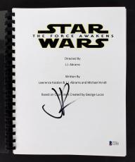 J.J. Abrams Signed Star Wars The Force Awakens Movie Script BAS C15402
