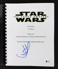 J.J. Abrams Signed Star Wars The Force Awakens Movie Script BAS D71843