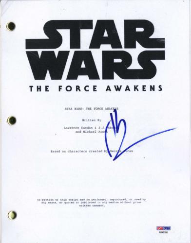 JJ Abrams Signed Star Wars The Force Awakens Script PSA AFTAL UACC RD COA