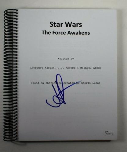 J.J. Abrams Star Wars Force Awakens Autographed Signed Script Authentic JSA COA