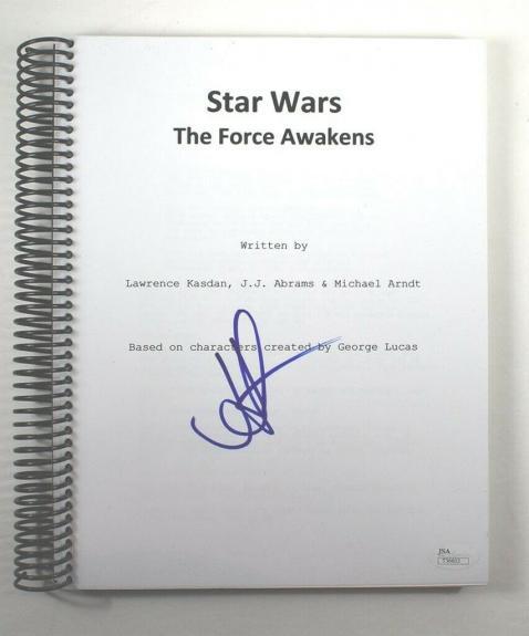 JJ Abrams Star Wars Force Awakens Autographed Signed Script Authentic JSA COA