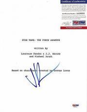 J.j. Abrams Star Wars Force Awakens Signed Autograph Script Cover Psa/dna Coa B