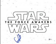 J.J. Abrams Star Wars The Force Awakens Signed 11X14 Photo BAS #B51713