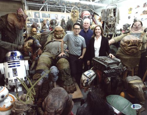 J.J. Abrams Star Wars The Force Awakens Signed 11x14 Photo BAS #D23987