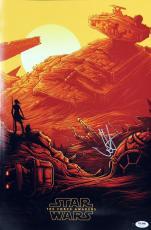 J.J. Abrams Star Wars The Force Awakens Signed 12x18 Movie Poster PSA #Z26434
