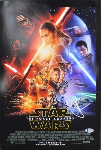 J.J. Abrams Star Wars The Force Awakens Signed 12x18 Photo BAS #C15356
