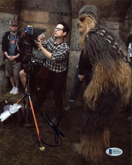 J.J. Abrams Star Wars The Force Awakens Signed 8x10 Photo BAS #D94584