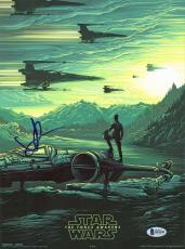 J.J. Abrams Star Wars The Force Awakens Signed 9.5x13 Photo BAS B18190