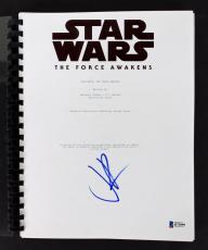 J.J. Abrams Star Wars The Force Awakens Signed Movie Script BAS B73899