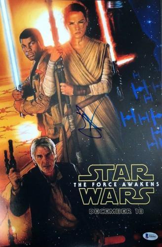 Jj J.j. Abrams Signed 12x18 Photo Star Wars Force Awakens Beckett Autograph C