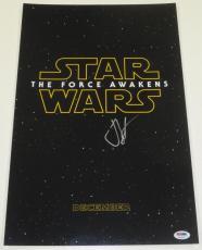 Jj J.j. Abrams Signed 12x18 Photo Star Wars Force Awakens Poster Proof Psa Coa B