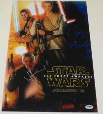 Jj J.j. Abrams Signed 12x18 Photo Star Wars Force Awakens Poster Proof Psa Coa D