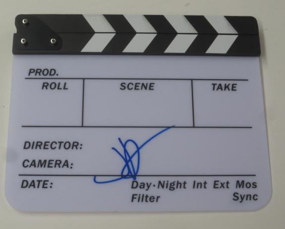Jj J.j. Abrams Signed Director Clapboard Star Wars Force Awakens Beckett Coa