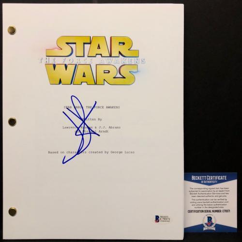 "J.J. JJ Abrams Signed ""Star Wars"" 'The Force Awakens Full Movie Script BAS"