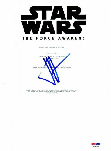 J.j. Jj Abrams Signed Star Wars The Force Awakens Full Script Psa Dna 5