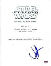 Jj J.j. Abrams Signed Star Wars The Force Awakens Script Autograph Proof Psa Coa