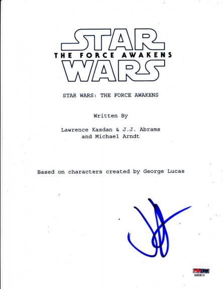 Jj J.j. Abrams Signed Star Wars The Force Awakens Script Autograph Proof Psa Coa