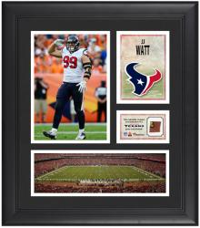 "JJ Watt Houston Texans Framed 15"" x 17"" Collage with Game-Used Football"