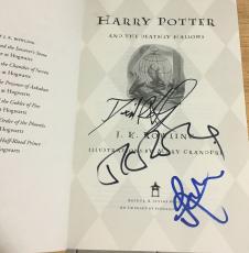 Jk Rowling Daniel Radcliffe Grint Signed Autograph 1st Print Harry Potter Book