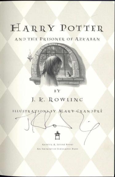 J.K Rowling Signed Auto 1st Edition Harry Potter Prizoner of Azkaban Book JSA